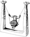 Miniature Swing, Minoan Pottery Art