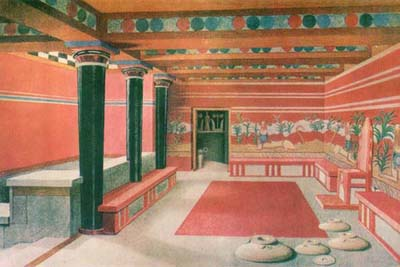 Throne room, Palace at Knossos